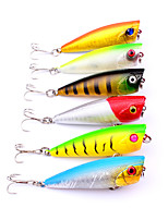 6 pcs Fishing Lures Popper g/Ounce,60 mm/2-3/8