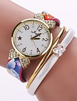 Women's Fashion Watch Bracelet Watch Unique Creative Watch Chinese Quartz PU Band Vintage Charm Elegant Casual Black White Blue Red Pink