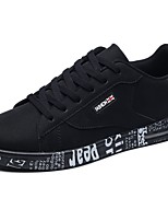Men's Shoes PU Spring Fall Comfort Sneakers Lace-up For Casual Black/White Black/Gold Gray