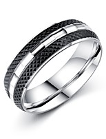 Men's Band Rings Fashion Vintage Titanium Steel Circle Jewelry For Wedding Evening Party