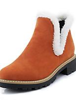 Femme Chaussures Similicuir Automne Hiver Bottes à la Mode Bottes Gros Talon Bout rond Bottine/Demi Botte Combinaison Pour Décontracté