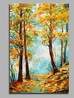 Dipinta a mano Paesaggi Verticale,A strisce Stile naturalistico Rustico Compleanno Moderno/Contemporaneo Ufficio Pastorale Natale