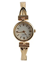 Women's Fashion Watch Wrist watch Japanese Quartz / Alloy Band Elegant Casual Gold