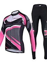 Cycling Jersey with Tights Women's Long Sleeves Bike Clothing Suits Quick Dry 3D Pad Stretchy Breathability Spandex 100% Polyester Classic