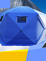 5-8 persons Tent Qube Tent Single Camping Tent Ice Shelter Fishing Tent Windproof Waterproof Zipper 2000-3000 mm for Camping & Hiking-200*175*240 CM