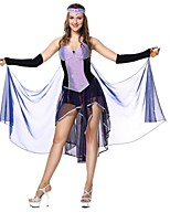 Queen Goddess Egyptian Costumes Cosplay Costumes Halloween Festival/Holiday Halloween Costumes Purple Fashion