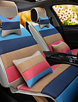 A Rainbow Cartoon Car Cushion Linen Cushion Seat Cover Seat Four Seasons General All Around Whole Linen -1#