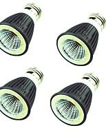 4PCS 7W Spot LED MR16 1 diodes électroluminescentes COB Décorative Blanc Chaud Blanc Froid 550lm 3000-6500K AC220V