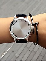 Men's Women's Fashion Watch Unique Creative Watch Quartz Leather Band Casual Black