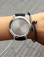 Per uomo Per donna Orologio alla moda Creativo unico orologio Quarzo Pelle Banda Casual Nero