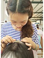 Donna Parrucche di capelli umani con retina Brasiliano Cappelli veri Lace integrale 130% Densità Con ciuffetti Lisci Parrucca Nero Medio