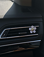 Car Air Outlet Grille Perfume  White Daisy Single Plastic Material  Automotive Air Purifier