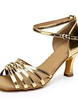 Women's PVC Leather Heel Professional High Heel Gold Silver