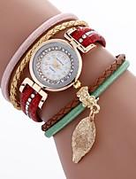 Per donna Orologio alla moda Orologio braccialetto Creativo unico orologio Cinese Quarzo PU Banda Stile Boho Ciondolo Casual classe Nero