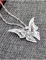 Women's Pendant Necklaces Butterfly Alloy Animal Design Jewelry For Wedding Birthday