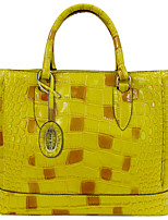 Women Bags Fall All Seasons Cowhide Tote Crystal Detailing for Casual Office & Career Yellow