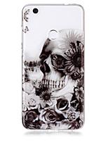 cas pour huawei p8 lite (2017) p10 lite téléphone étui tpu matériel crâne motif hd téléphone cas p9 lite