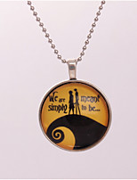 Women's Pendant Necklaces Circle Alloy Love Jewelry For Party Gift