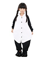 Kigurumi Pajamas Panda Leotard/Onesie Shoes Festival/Holiday Animal Sleepwear Halloween Fashion Solid Color Embroidered Flannel Fabric