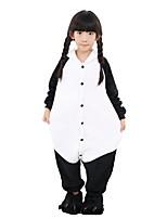 kigurumi Pyjamas Panda Collant/Combinaison Chaussures Fête / Célébration Pyjamas Animale Halloween Mode Couleur unie Brodée Flanelle