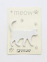 1 set di autoadesivo di disegno del gatto del pc (colore casuale)