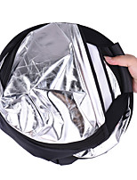 Andoer 30/76cm Portable Handheld Triangle Collapsible 5in1 Multi Reflector with Gold/Sliver/White/Black/Translucent Colors for Photo Studio Photograp