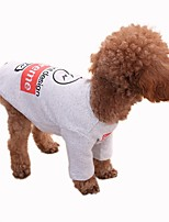 Dog Sweatshirt Dog Clothes Casual/Daily Geometric Gray White