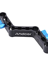 Andoer Adjustable Levers Z-Shaped Offset Raiser Clamp Mount Bracket for 15mm Rods on DSLR Shoulder Rig