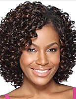Women Synthetic Wig Capless Short Wavy Brown Highlighted/Balayage Hair Natural Wigs Costume Wig