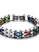 Men's Chain Bracelet Punk Rock Titanium Steel Line Jewelry For Party Gift