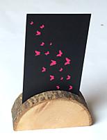 Bois Support pour Carte de Mariage Marque-place debout