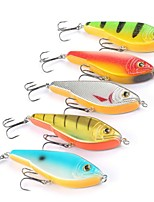 5 pcs Hard Bait Vibration/VIB g/Ounce mm inch,Plastic Sea Fishing Bait Casting Trolling & Boat Fishing Lure Fishing