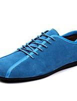 Da uomo Scarpe Scamosciato Autunno Inverno Comoda Sneakers Footing Lacci Per Casual Nero Blu scuro Blu