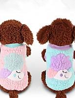 Cane Gilè Abbigliamento per cani Casual Cartoni animati Viola Blu Rosa