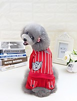 Dog Clothes/Jumpsuit Dog Clothes Casual/Daily Stripe Light Blue Red Dark Blue