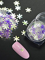 1g/Bottle Fashion Winter Christmas Snowflake Glitter Sequins Laser Rainbow Blue Shining Nail DIY  Decoration