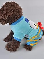 Cane Felpa Abbigliamento per cani Casual Cartoni animati Blu Rosa