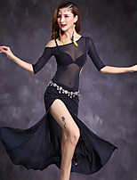 Belly Dance Dresses Women's Performance Tulle 1 Piece Half Sleeve Natural Dress