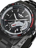 Men's Sport Watch Quartz Alloy Band Casual Black