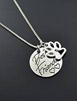 Women's Pendant Necklaces Heart Four Prongs Alloy Love Friendship Jewelry For Gift Daily