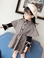 Robe Fille de Sortie Décontracté / Quotidien A Carreaux Coton Polyester Printemps Automne