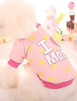 Dog Sweatshirt Dog Clothes Casual/Daily Stars Blushing Pink Blue