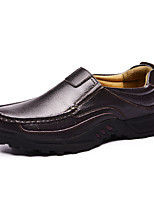 Men's Shoes Leather Nappa Leather Spring Fall Comfort Loafers & Slip-Ons Polka Dot For Casual Party & Evening Brown Black