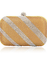 Women Bags All Seasons Polyester Evening Bag Crystal Detailing Pearl Detailing for Wedding Event/Party Champagne Gold Black Silver Red