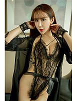 Ultra Sexy Costumes Vêtement de nuit Femme,Sexy Solide Soie Glacée