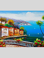 Hand-Painted Landscape Horizontal Panoramic,Other One Panel Canvas Oil Painting For Home Decoration