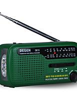 DE13 Radio portatil Energía Solar Linterna Verde