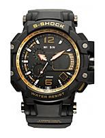 Herrn Sportuhr Armbanduhr Armbanduhren für den Alltag Digitaluhr Schweizer digital LED Kalender Wasserdicht Duale Zeitzonen leuchtend