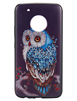 Case For Motorola Moto G5 Plus Case Cover Owl Pattern Relief Back Cover Soft TPU