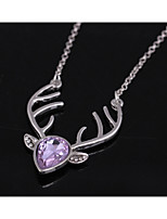 Women's Pendant Necklaces Drop Rhinestone Alloy Cute Style Chrismas Jewelry For Birthday Christmas